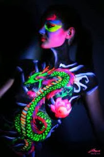 Best Glow Body Painting