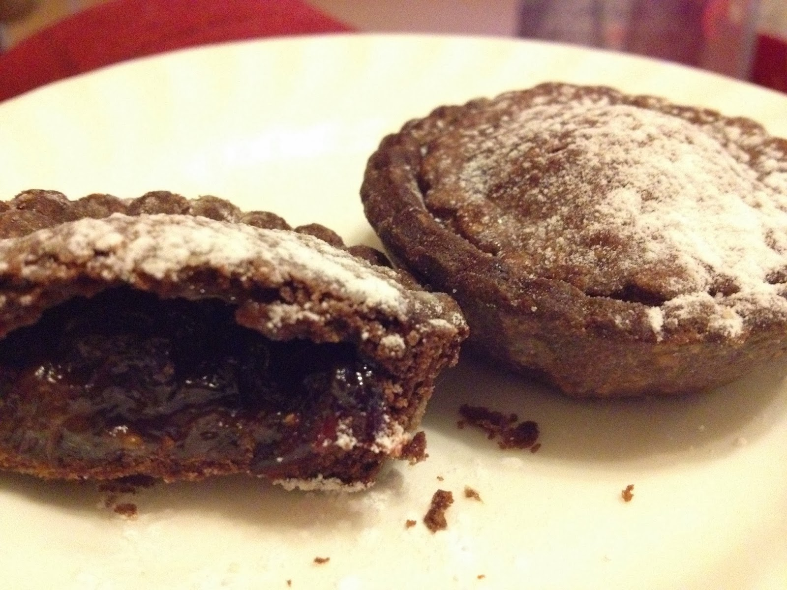 chocolate mince pies with port recipe garden tea