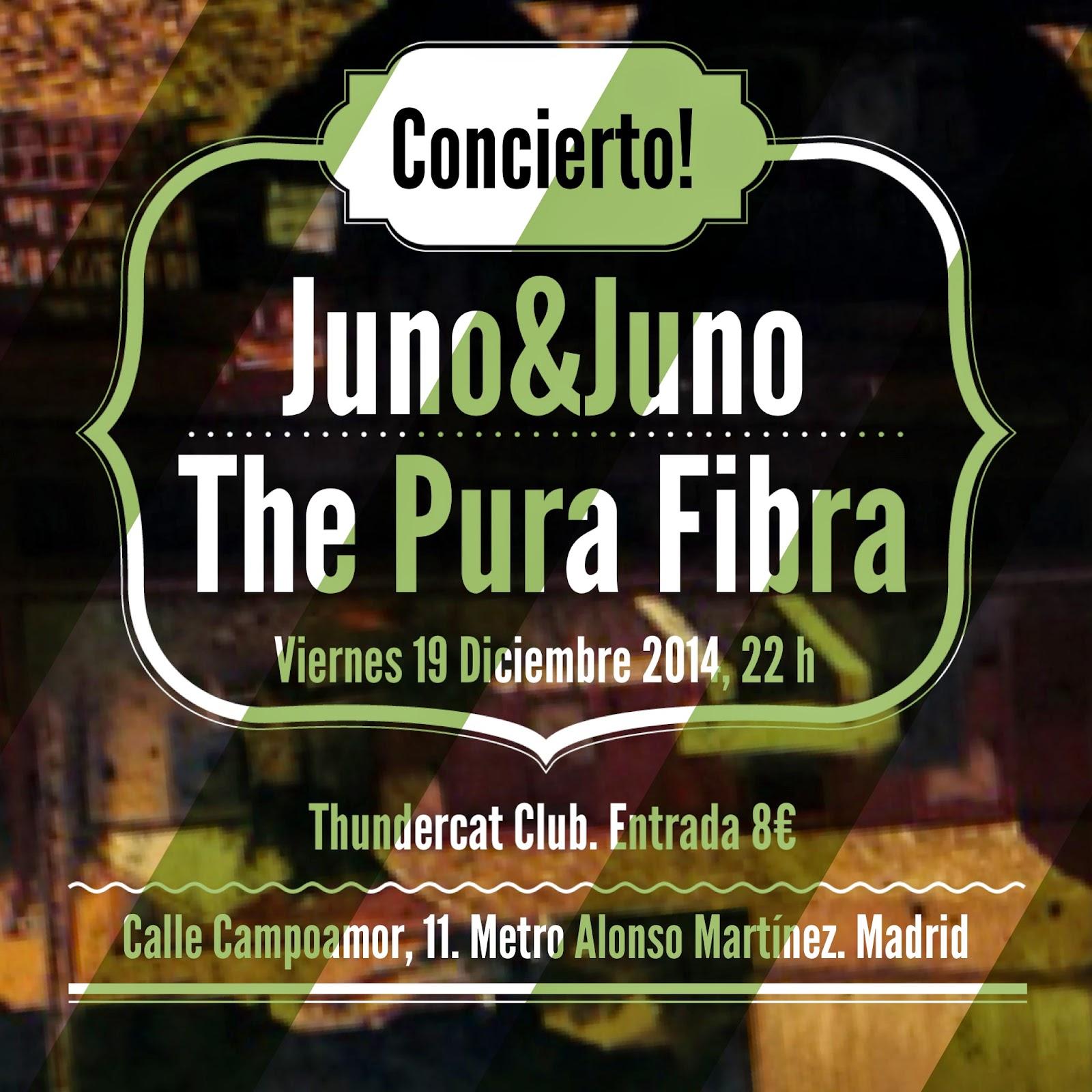 Juno&Juno vuelven en concierto a Madrid el viernes 19 Diciembre