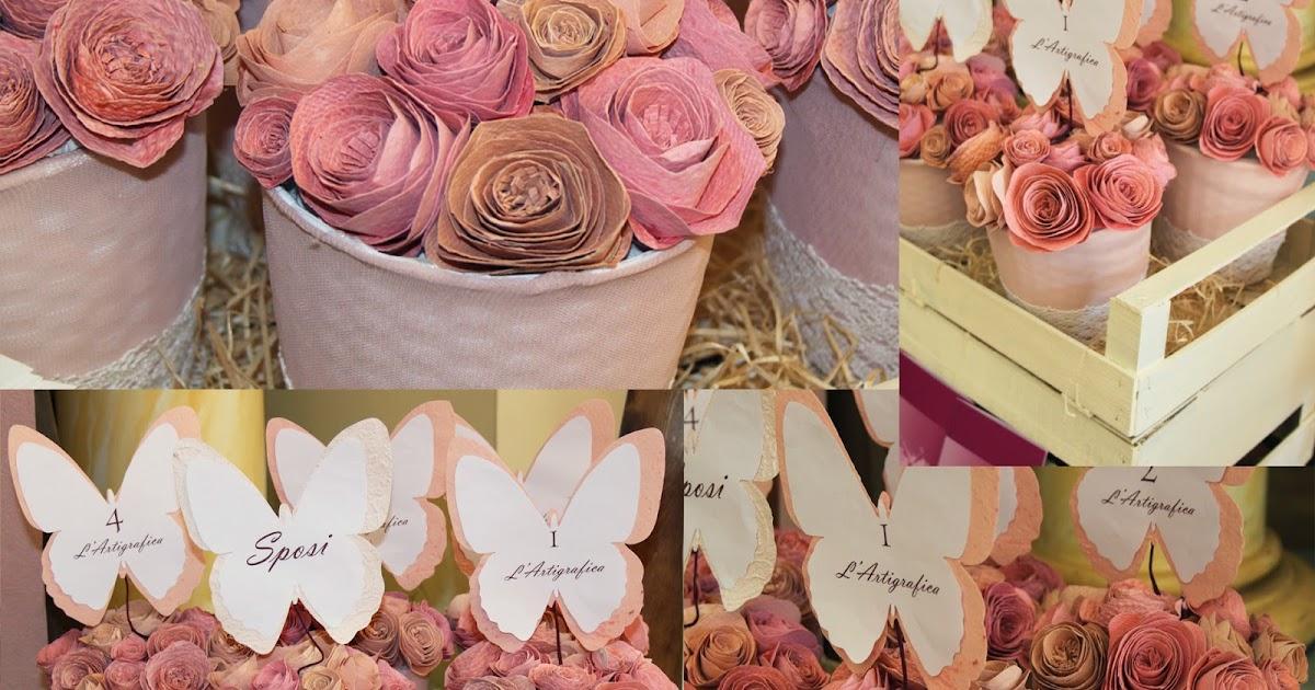 Tema Matrimonio Azzurro Polvere : Matrimonio azzurro polvere centrotavola con rose di carta