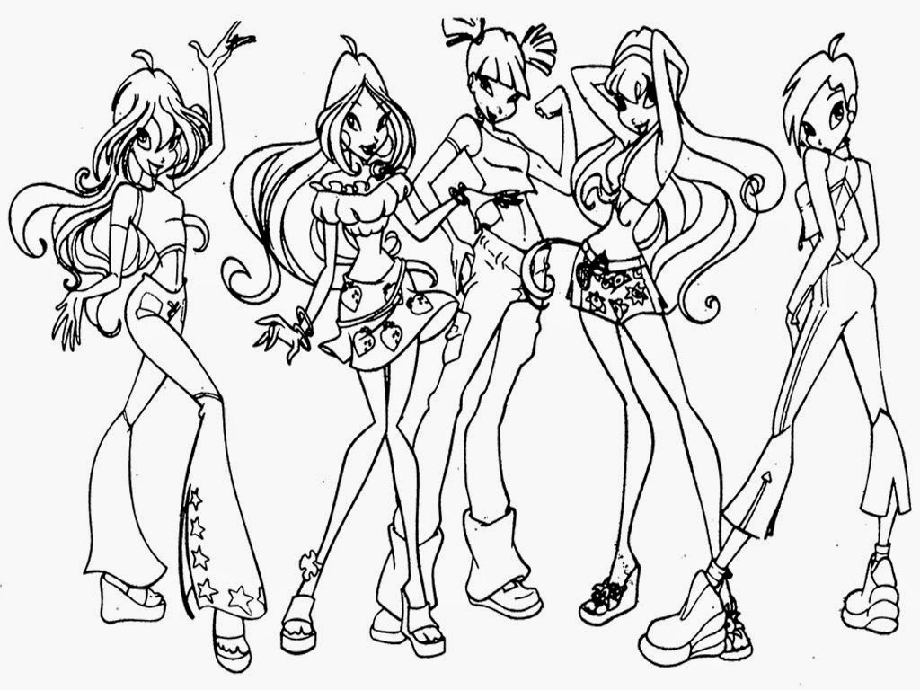 bratz the group coloring pages - photo#25