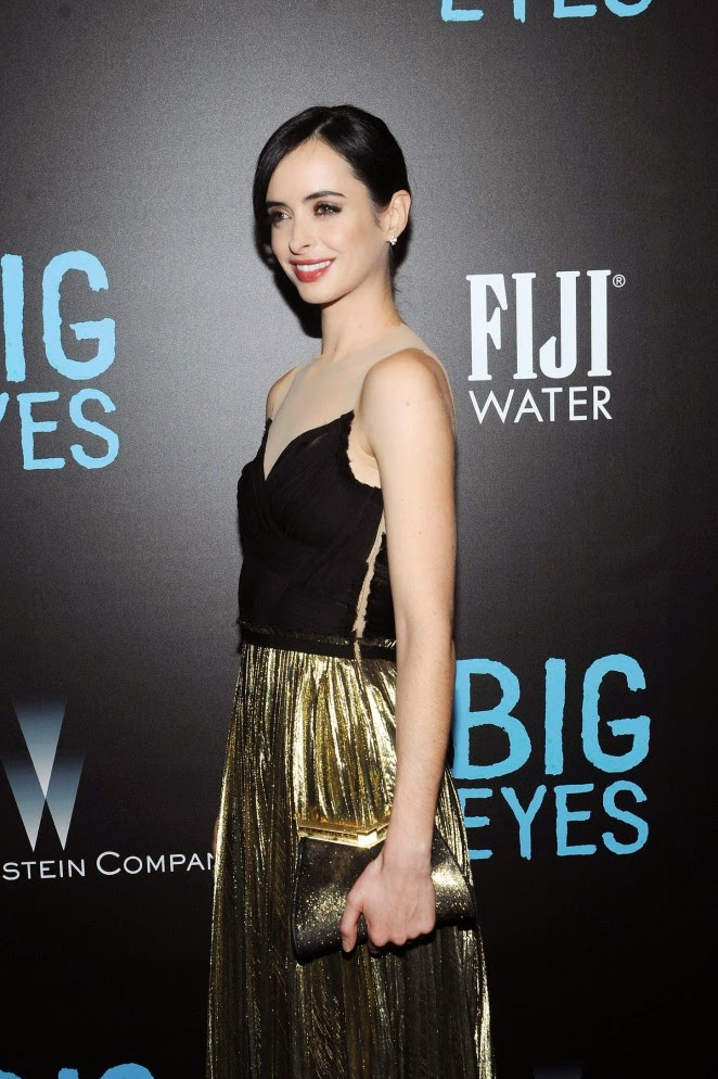 Krysten Ritter in a strapless dress at the 'Big Eyes' premiere in New York