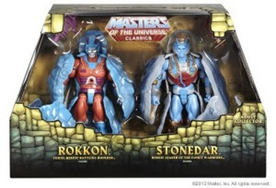 Mattel Comic Con 2013 SDCC Maters of the Universe MOTU Classic Exclusive Rokkon & Stonedar 2-Pack