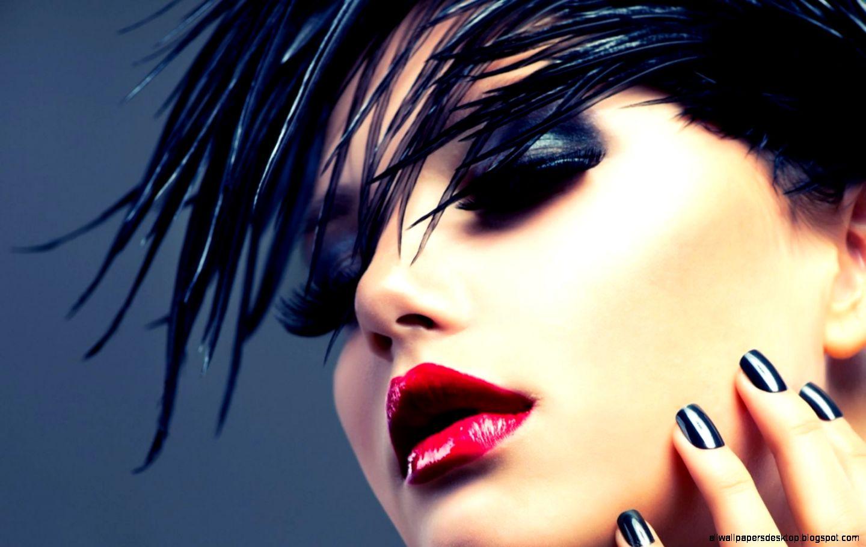 Brunette Style Makeup Hd Wallpaper  Best Desktop Wallpapers
