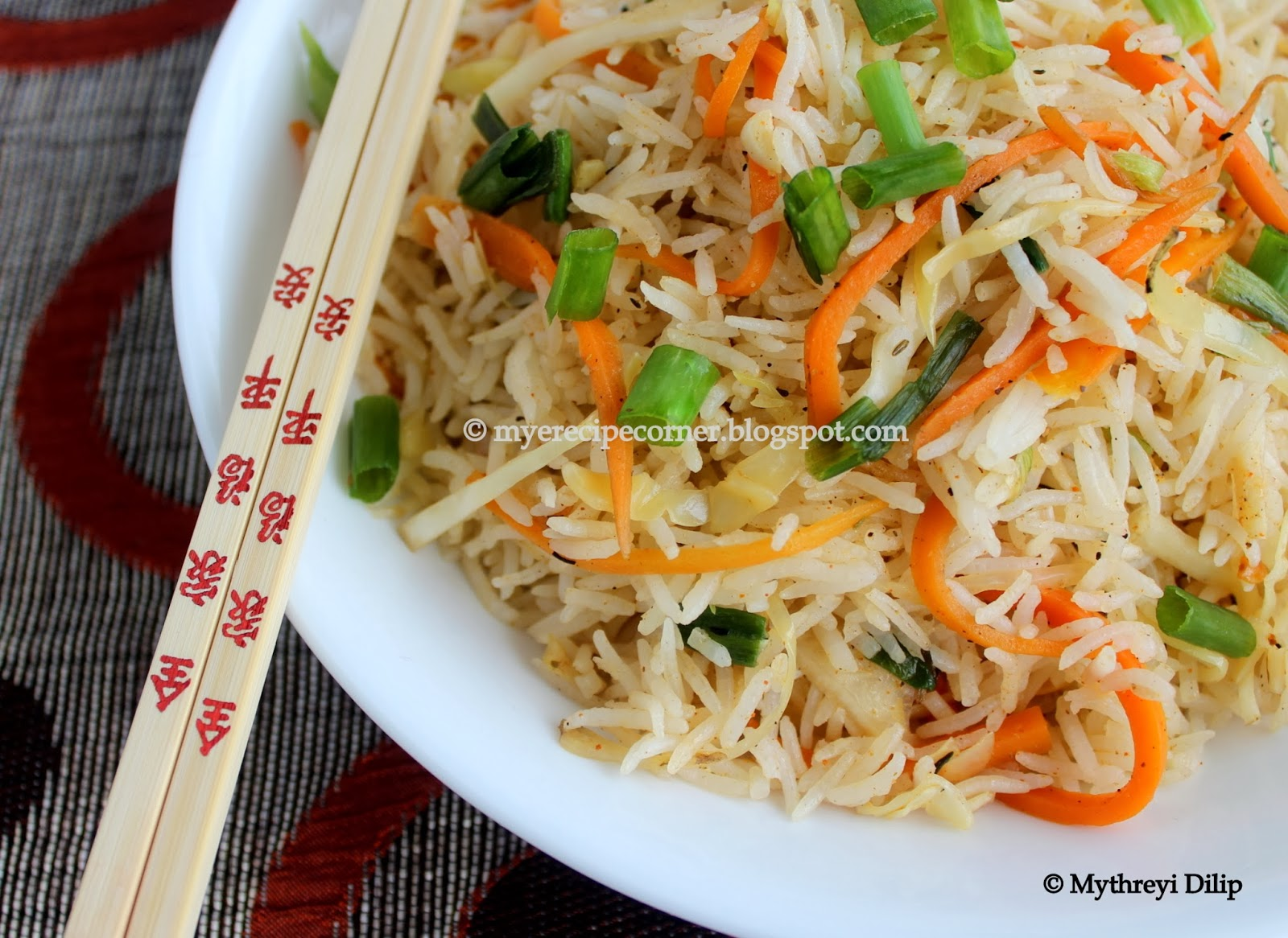 Myes kitchen manchow fried rice recipe wangs kitchen restaurant vegetarian manchow rice recipe ccuart Choice Image