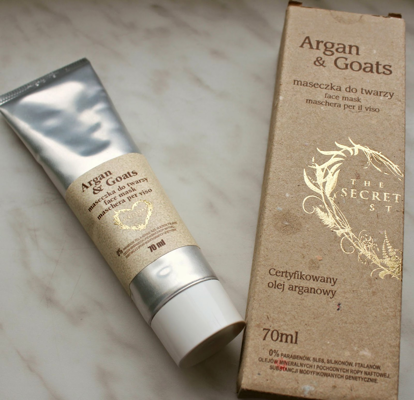 maseczka do twarzy Argan & Goats – The Secret Soap Store