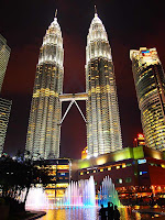 Kuala Lumpur City Centre fountain and light show