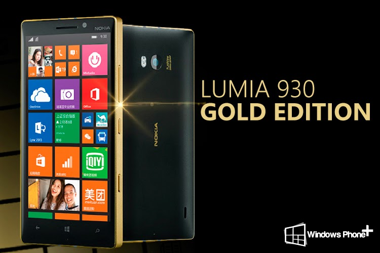 "Nokia Rilis Lumia 930 ""Golden Collector Edition"""