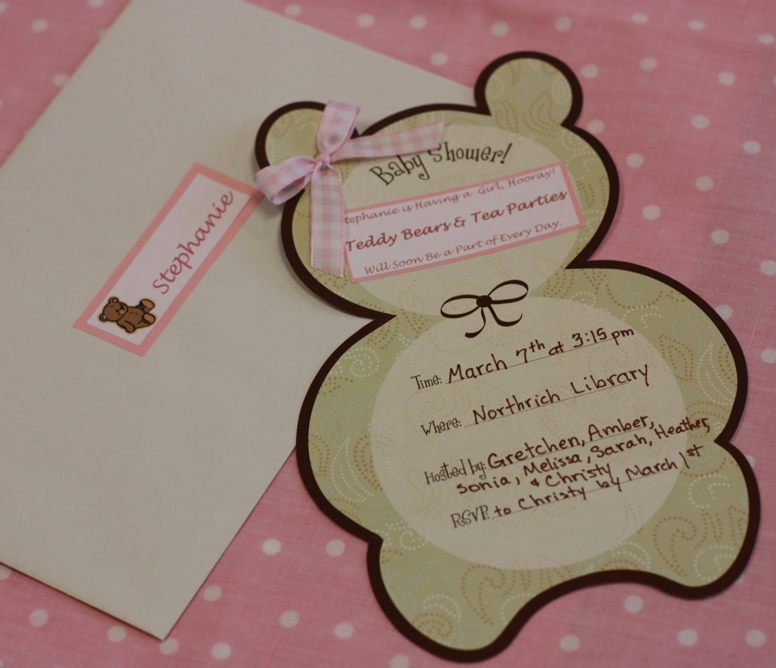 Christy Teddy Bears and Tea Parties Shower Invitation
