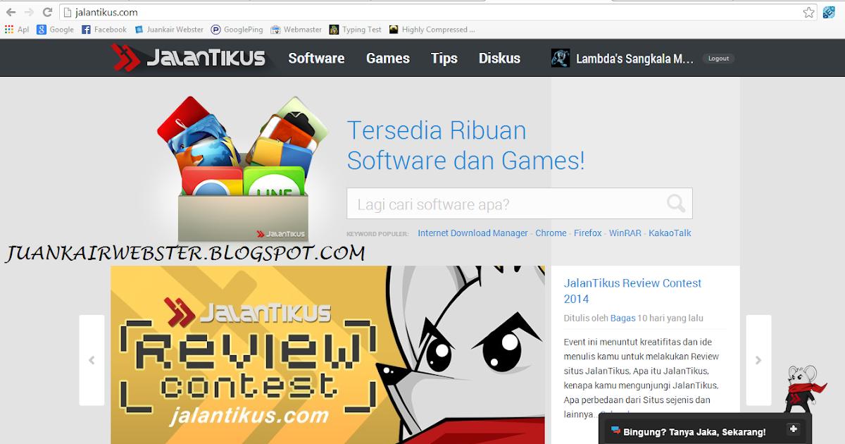 Cara Download Berbagai Game Di JalanTikus | Juankair Webster