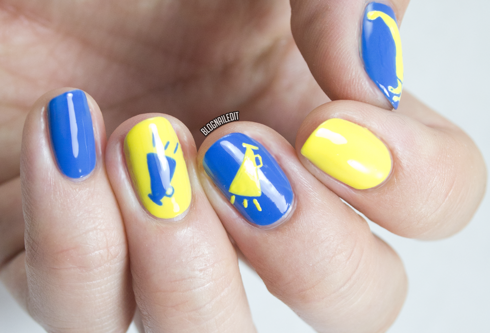 Back to school nails for divine caroline nailed it the nail get in school spirit with these pep rally ready mega cute megaphone nails i did for divine caroline prinsesfo Gallery