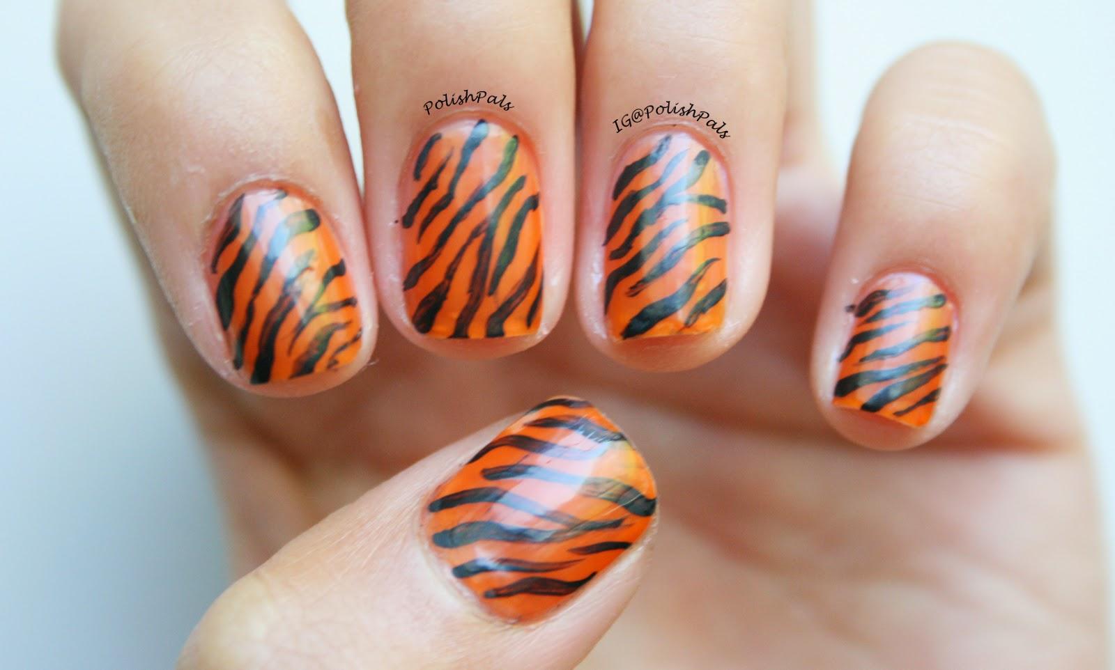 Polish pals orange you with the band by jolie polish tiger print nails prinsesfo Choice Image