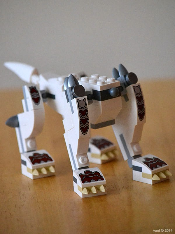 lego chima legend beast wolf - one headless wolf