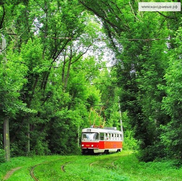 Трамвай стартует от метро «