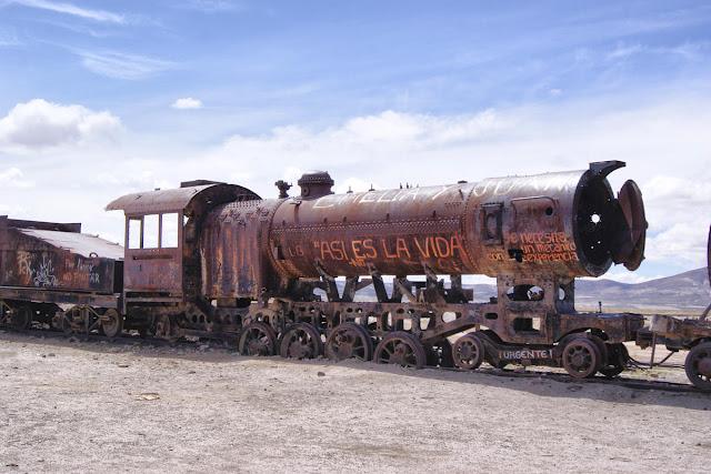 Cementerio de trenes en Bolivia