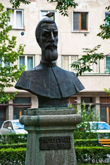 Escultura de Timotei Cipariu padre de la filología rumana