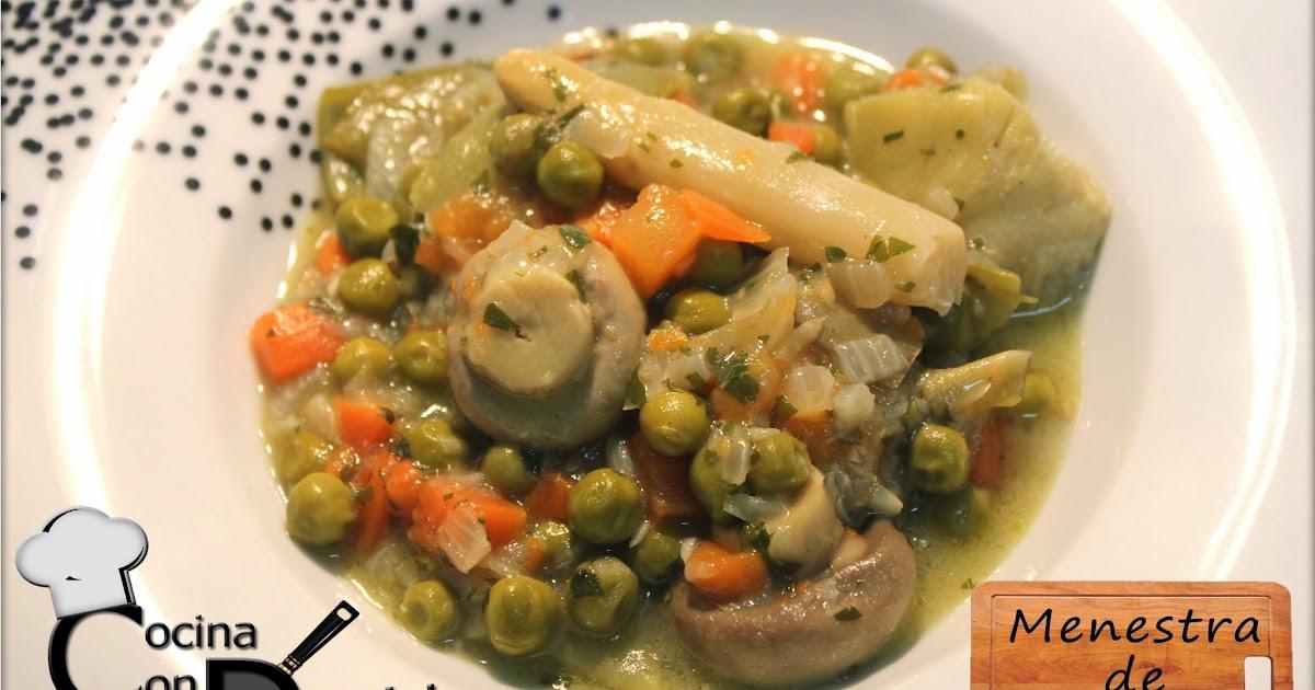 Cocinacondavid menestra de verduras de bote for Cocinar alcachofas de bote