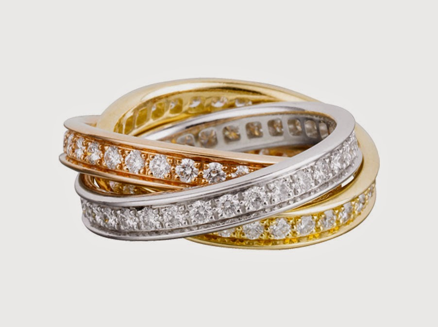 White and Yellow Gold Diamond Wedding Rings Model Pictures HD
