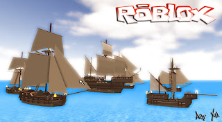 Roblox tall ship sandbox game like Minecraft