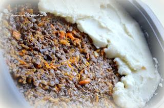 Запеканка из картофельного пюре с грибами