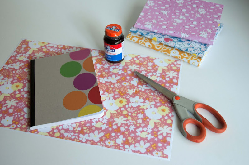 Diy Fabric Covered Composition Book : Aesthetic nest craft pretty paper covered composition
