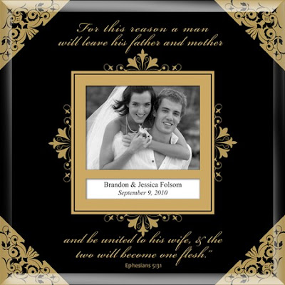Personalized Christian Wedding Card