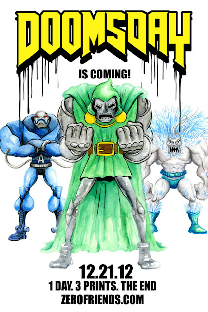 Doomsday Doppelganger Super Villain Print Set by Alex Pardee - Apocalypse, Dr. Doom & Doomsday