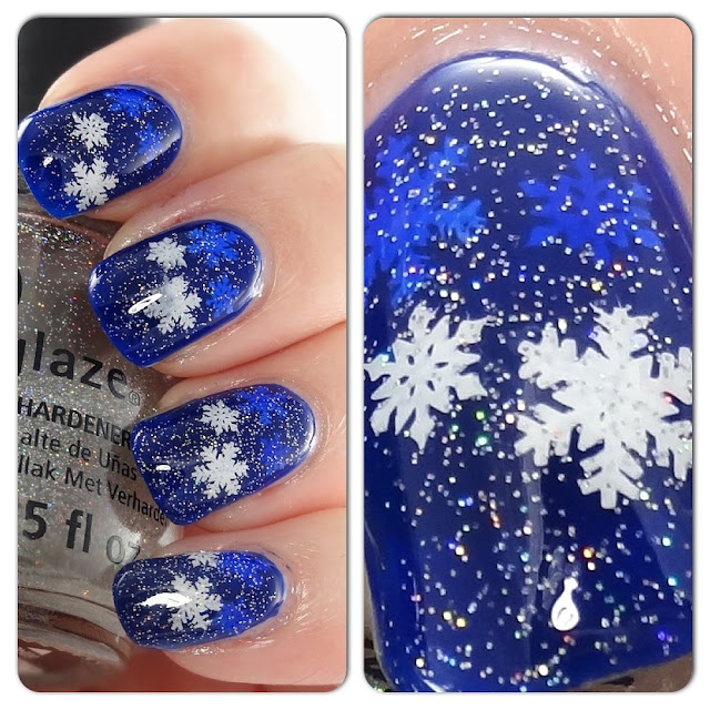 The Mercurial Magpie - Nail Art - Snowflake Fairy Dust Jelly Stampwich