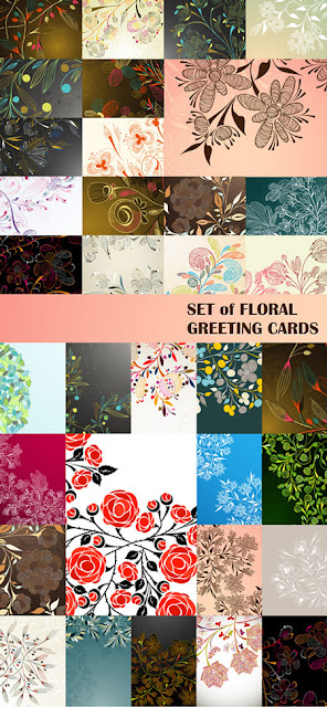Greeting Cards with Floral Designs