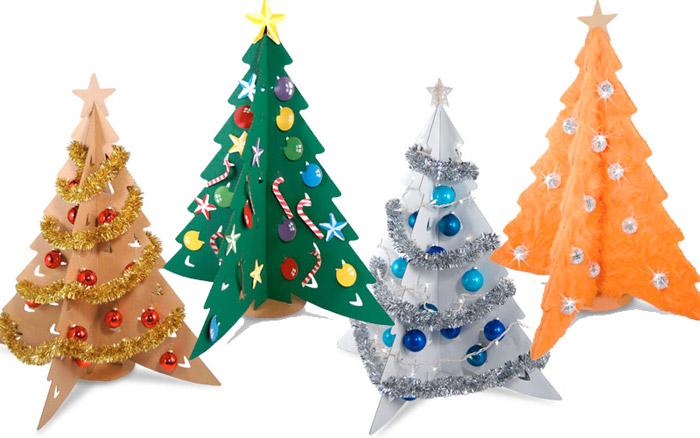 Jardinitis ideas para el rbol de navidad - Fabriquer son sapin de noel en carton ...