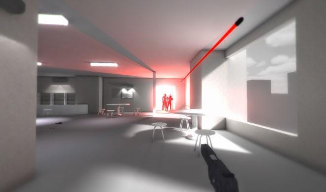 super hot jogo fps em camera lenta parecido com matrix