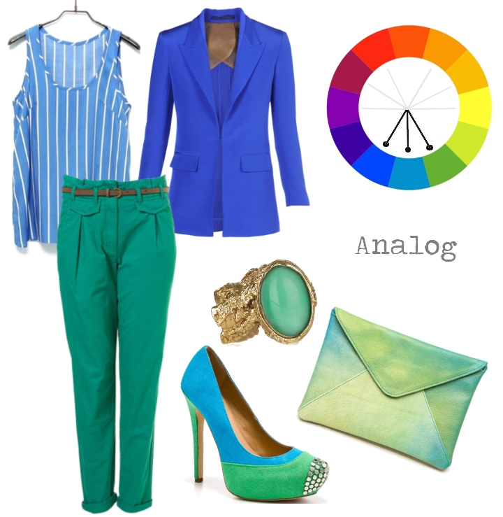 Analogous Color Scheme Example lessons on color theory and how to apply it to your wardrobe