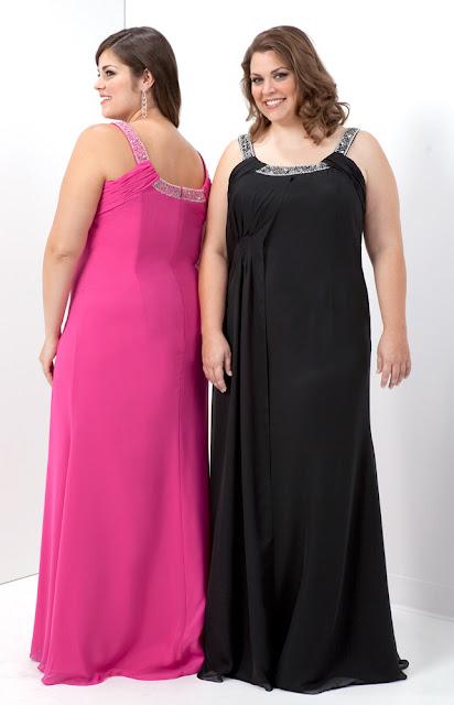 Schwarzes Abendkleid für vollschlank Frauen