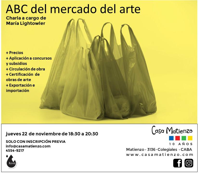 Jueves 22/11 18.30h: ABC del mercado del arte. A cargo de Maria Lightowler.