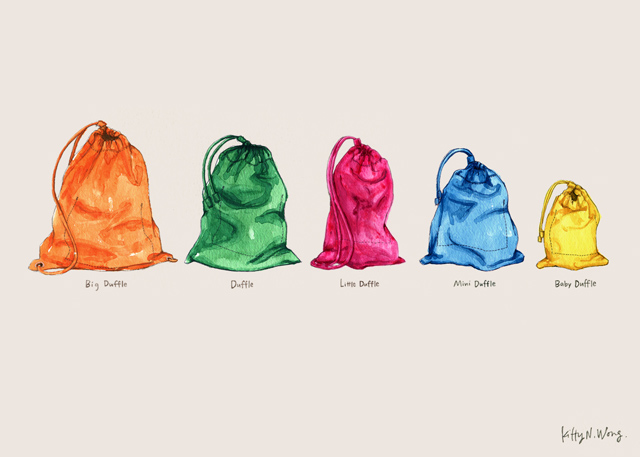 Burberry Duffel bags and Pouches / Kitty N. Wong Illustration