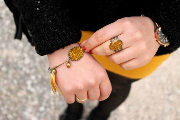 Bijoux glitters paillettes dorés