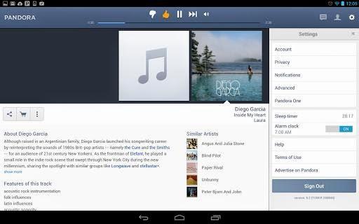 Pandora 5.2 internet radio for android
