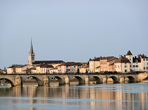 Town on the Saone River near Lyon