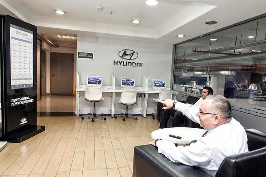 Hyundai opens world 39 s first advanced 39 workshop automation for Hyundai motors customer service