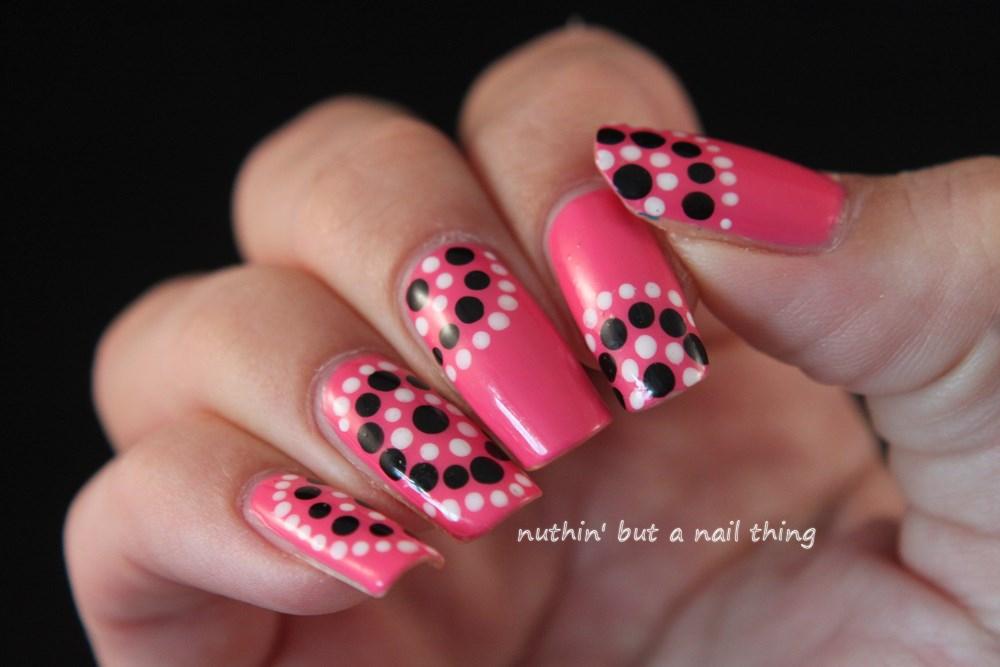 nuthin\' but a nail thing: Models Own Gumballs - Polka dot nail art