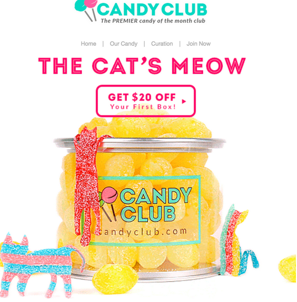 candy club $20 off coupon