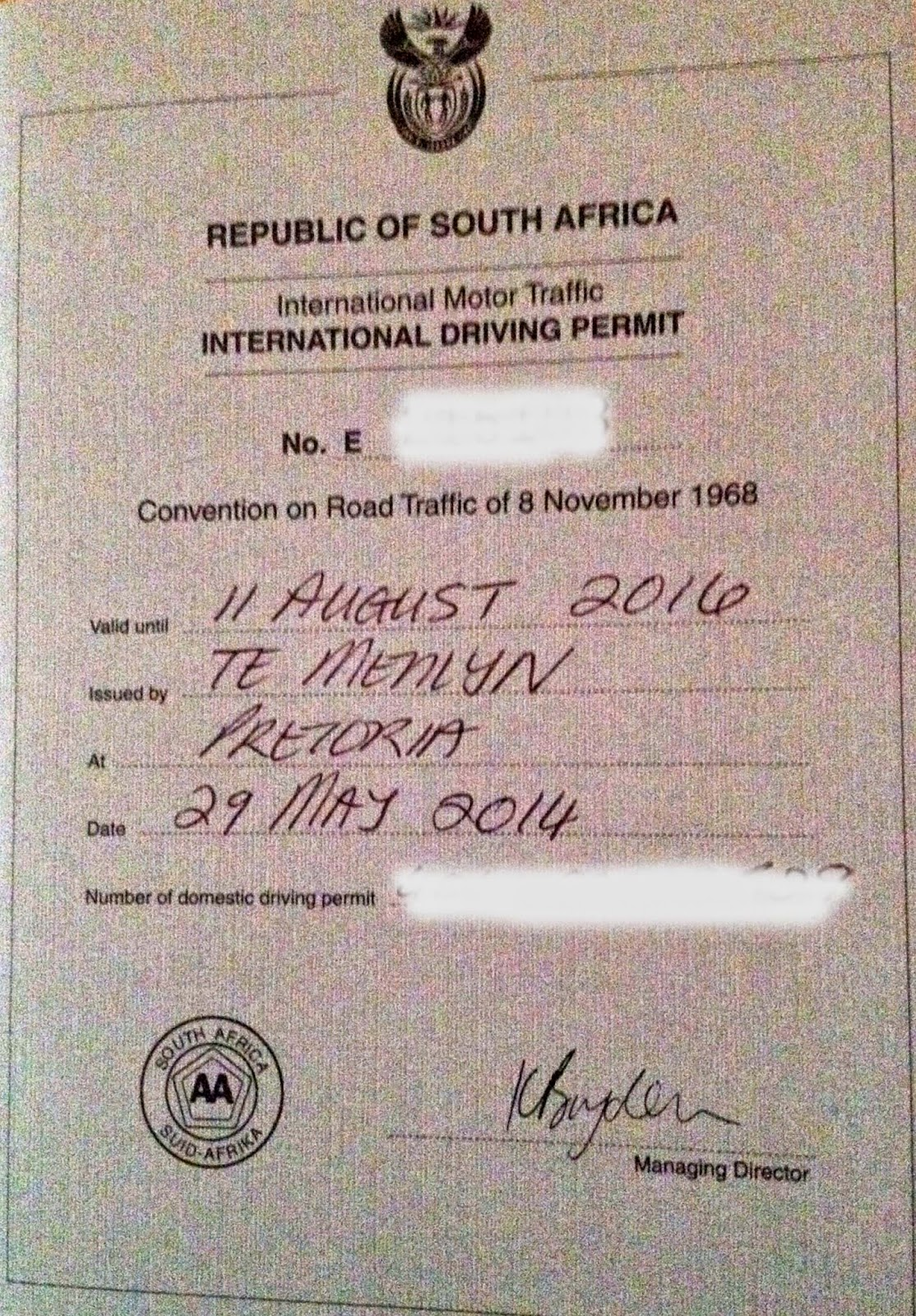 drivers licence south africa international