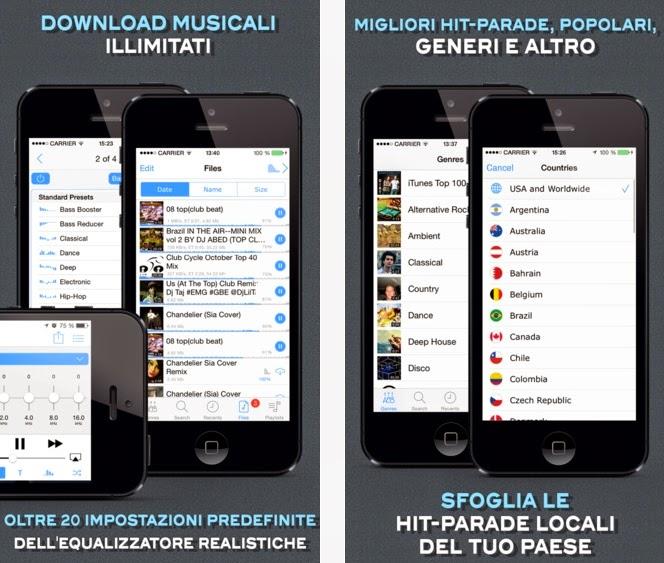 LA MIGLIORE APP PER SCARICARE GRATIS MUSICA MP3 SU IPHONE ED IPAD