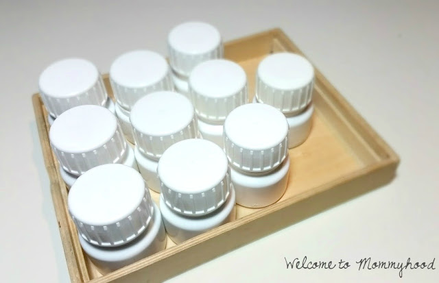 DIY sound containers for preschoolers by Welcome to Mommyhood #montessori, #preschool, #soundcontainers