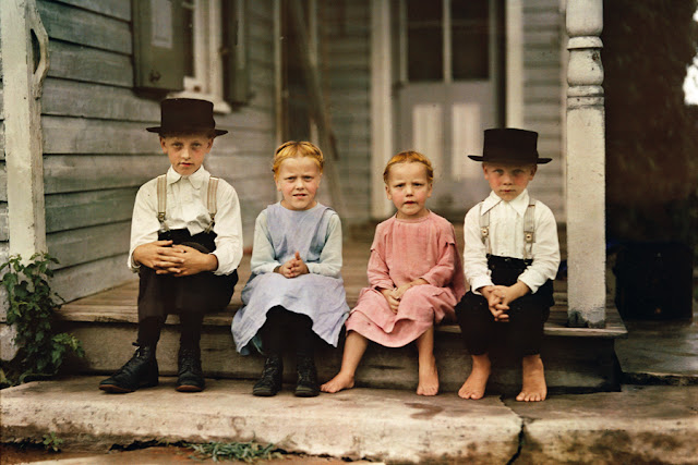 vintage everyday: Amish children in Lancaster County, Pennsylvania ...: www.vintag.es/2013/09/amish-children-in-lancaster-county.html