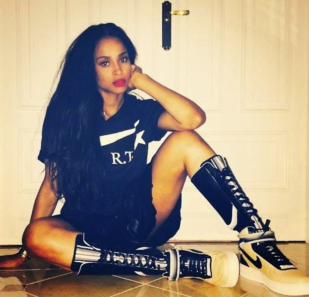 Ciara Wears The New Nike AF1 Rt Boots and Givenchy Fashion