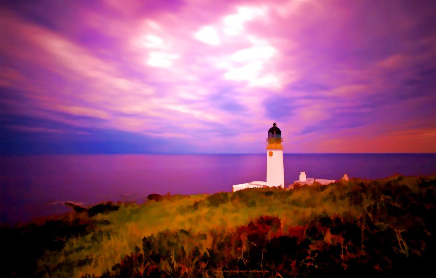 Rua Reidh Lighthouse Scotland Beautiful Desktop Wallpaper