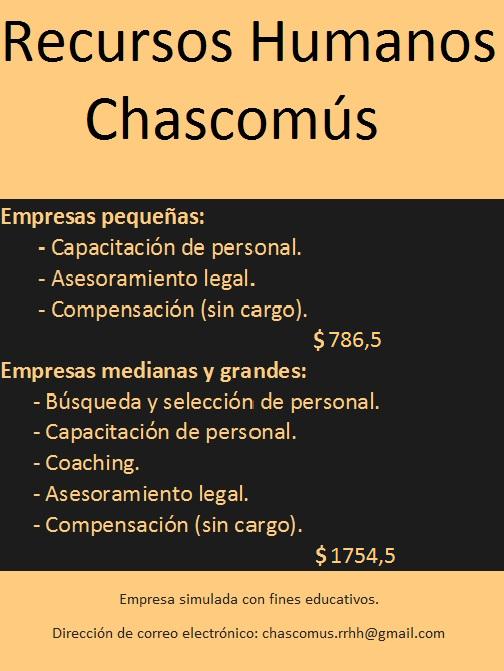 recursos humanos chascom s