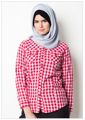 desain kemeja muslim wanita untuk kerja
