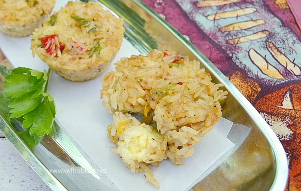 Mozzarella Stuffed Rice Clusters ~ Perfect and very tasty Rice Appetizer or snack with gooey Mozzarella in the center